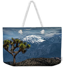 Weekender Tote Bag featuring the photograph Joshua Tree At Keys View In Joshua Park National Park by Randall Nyhof