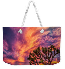 Joshua Tree In The Glowing Swirls Weekender Tote Bag