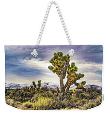 Weekender Tote Bag featuring the photograph Joshua Tree On The Extraterrestrial Highway by Janis Knight