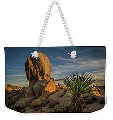 Weekender Tote Bag featuring the photograph Joshua Tree Rock Formation by Ed Clark