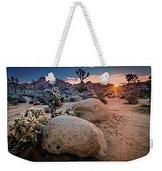 Joshua Tree Sunrise Weekender Tote Bag