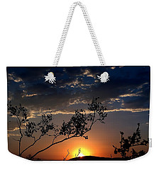 Weekender Tote Bag featuring the photograph Joshua Tree Sunset by Chris Tarpening