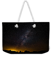 Weekender Tote Bag featuring the photograph Joshua Tree's Fiery Sky by T Brian Jones
