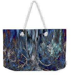 Journey Of The Willow - Abstract Blue/silver Tree  Weekender Tote Bag