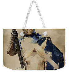Weekender Tote Bag featuring the photograph Jousting by Steve McKinzie