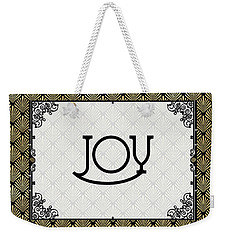 Joy - Art Deco Weekender Tote Bag