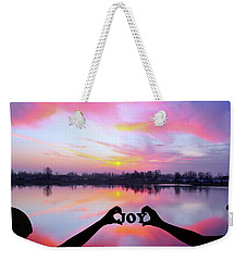 Weekender Tote Bag featuring the photograph Joy - Digital Art by Ericamaxine Price