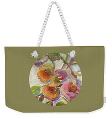 Weekender Tote Bag featuring the painting Joy by Mary Wolf