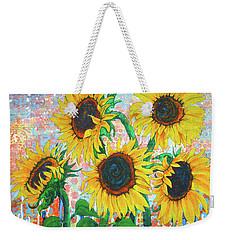 Joy Of Sunflowers Desiring Weekender Tote Bag