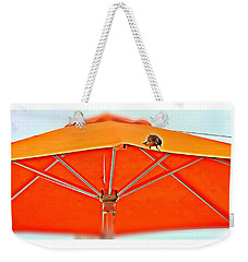 Weekender Tote Bag featuring the digital art Joy On An Umbrella by Mindy Newman
