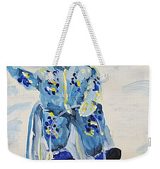 Weekender Tote Bag featuring the painting Joy Ride by Maria Langgle