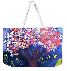 Weekender Tote Bag featuring the painting Joy by Winsome Gunning