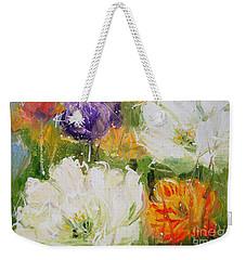 Joy With Tulips Weekender Tote Bag