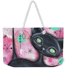 Joyce Cat Weekender Tote Bag by Abril Andrade Griffith