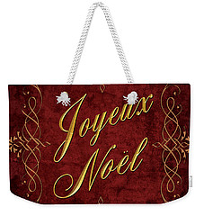 Joyeux Noel In Red And Gold Weekender Tote Bag by Caitlyn  Grasso