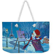 Weekender Tote Bag featuring the painting Joyeux Noel by Michael Humphries