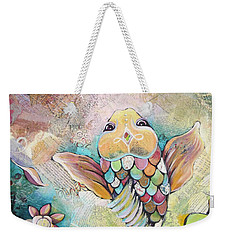 Joyful Koi II Weekender Tote Bag by Shadia Derbyshire