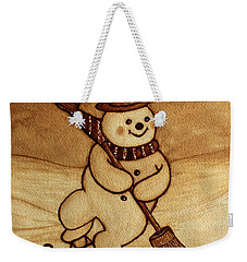 Joyful Snowman  Coffee Paintings Weekender Tote Bag