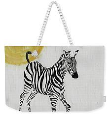 Weekender Tote Bag featuring the painting Joyful by Stephanie Grant
