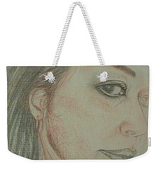 Weekender Tote Bag featuring the mixed media JS  by Jane See