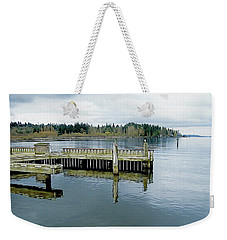 Juanita Bay In Gray Weekender Tote Bag