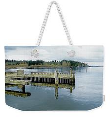 Juanita Bay In Gray Weekender Tote Bag