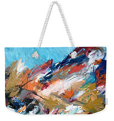 Judean Hill Abstract Weekender Tote Bag by Esther Newman-Cohen