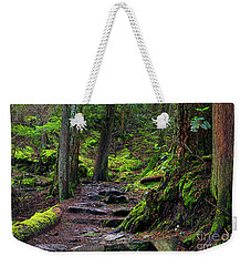 Weekender Tote Bag featuring the photograph Jug Island Beach Trail by Sharon Talson