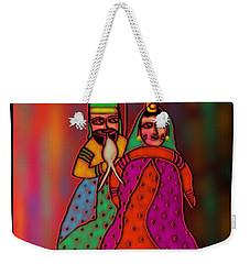 Weekender Tote Bag featuring the digital art Jugalbandi by Latha Gokuldas Panicker