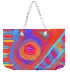 Weekender Tote Bag featuring the painting Juicy Colored Abstract by Susan Stone