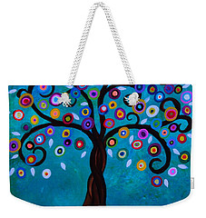 Weekender Tote Bag featuring the painting Juju's Tree by Pristine Cartera Turkus