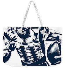 Julian Edelman New England Patriots Pixel Art 2 Weekender Tote Bag by Joe Hamilton