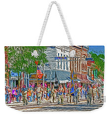 Weekender Tote Bag featuring the photograph July 4th Color Guard by Trey Foerster