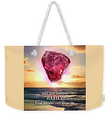 July Birthstone Ruby Weekender Tote Bag
