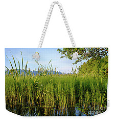 July Morning At The Lake Enajarvi Weekender Tote Bag