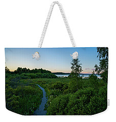 July Sunset At The Lake Enajarvi Weekender Tote Bag
