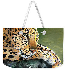 Weekender Tote Bag featuring the painting Jumanji by Sherry Shipley