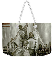 Weekender Tote Bag featuring the photograph Jump Ball by Ronald Santini