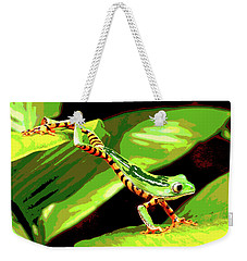 Jumping Frog Weekender Tote Bag by Charles Shoup