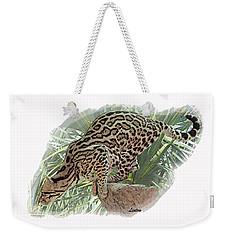 Pouncing Ocelot Weekender Tote Bag
