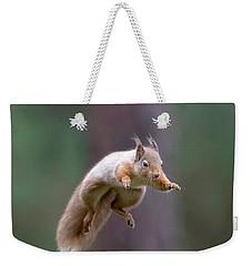 Jumping Red Squirrel Weekender Tote Bag