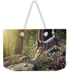Jumping Rocks Weekender Tote Bag