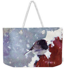 Junco In The Snow, Square Weekender Tote Bag
