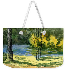 Junction Of White And Spring Rivers Weekender Tote Bag