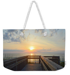 Weekender Tote Bag featuring the photograph June 17th Sunrise by Barbara Ann Bell