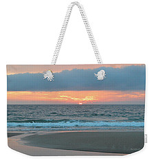 Weekender Tote Bag featuring the photograph June 20 Nags Head Sunrise by Barbara Ann Bell