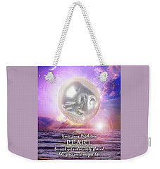 June Birthstone Pearl Weekender Tote Bag
