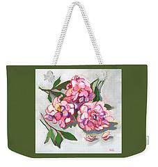 June Peonies Weekender Tote Bag