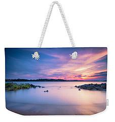 June Sunset On The River Weekender Tote Bag
