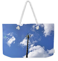 Weekender Tote Bag featuring the photograph Jungle Bungee Tower by Francesca Mackenney